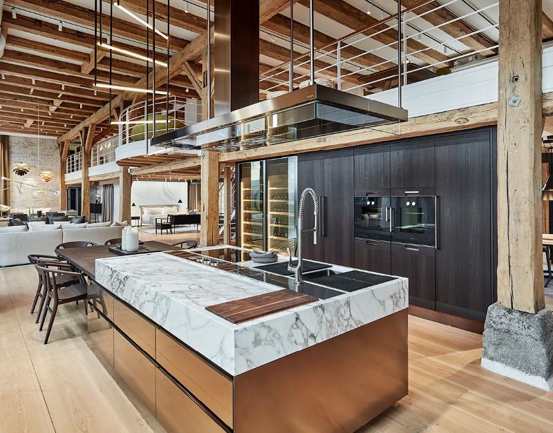 cucine con isola di lusso